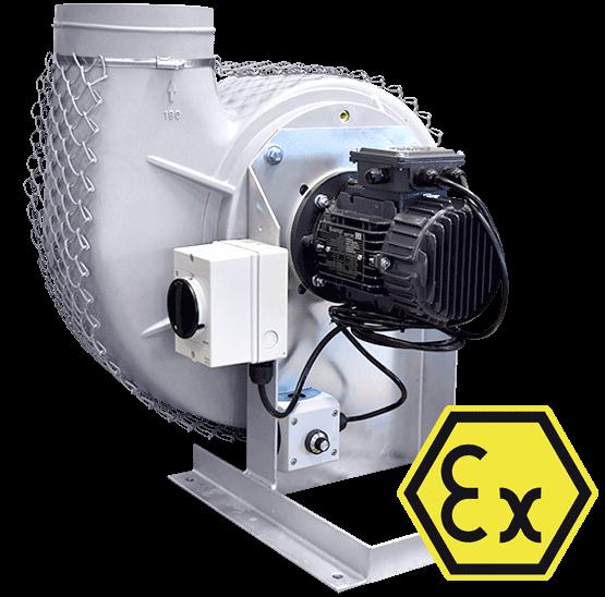 ATEX Radialventilator mit EC-Motor